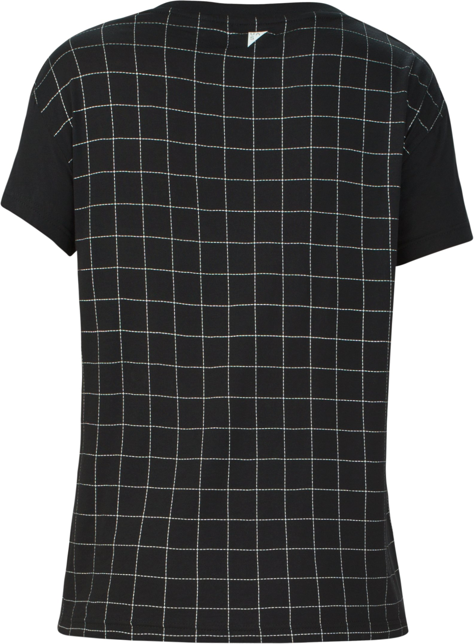 Women's UAS Downtown Grid Graphic Modal Crew, Black , undefined