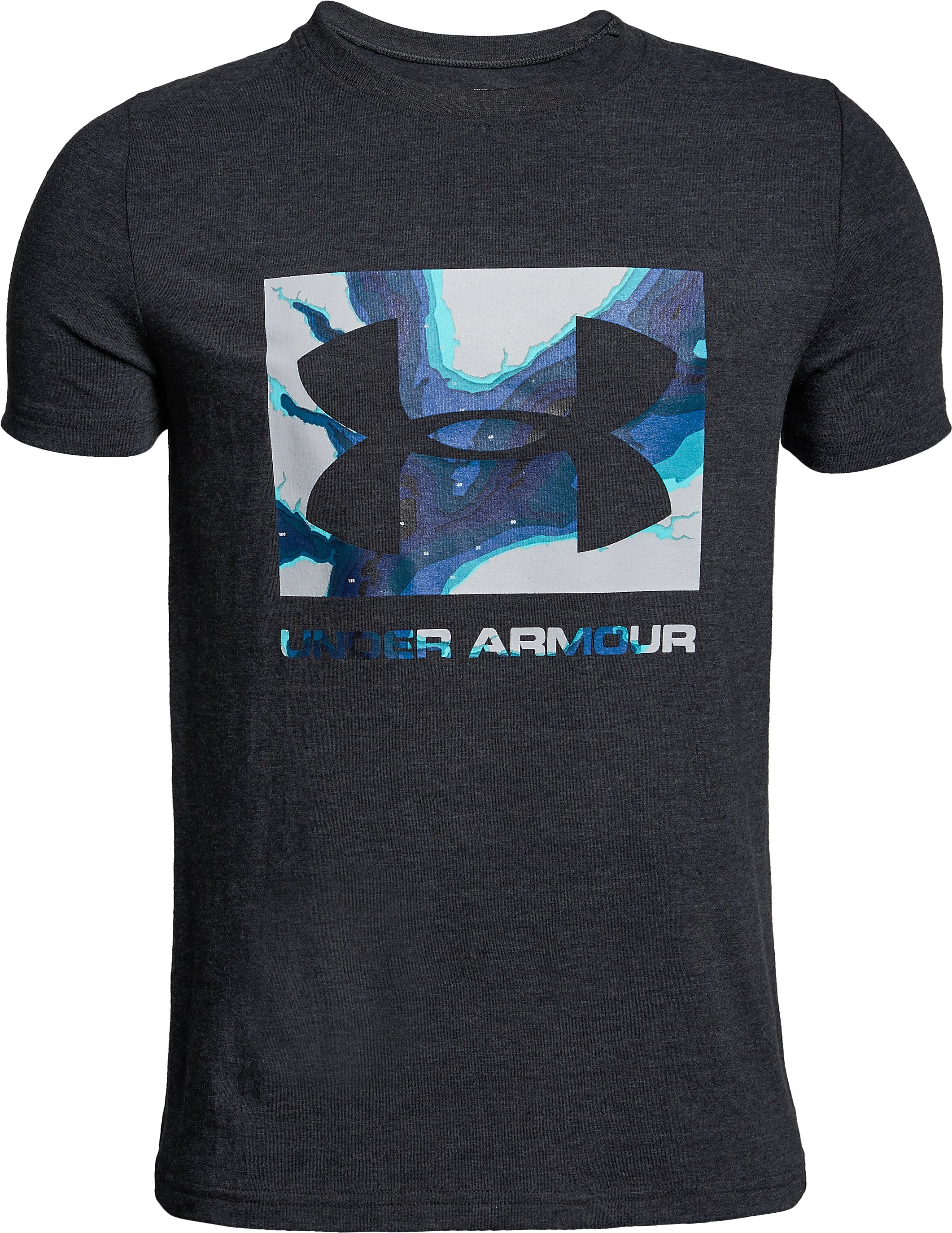 UA Camo Fill T-Shirt, BLACK MEDIUM HEATHER,