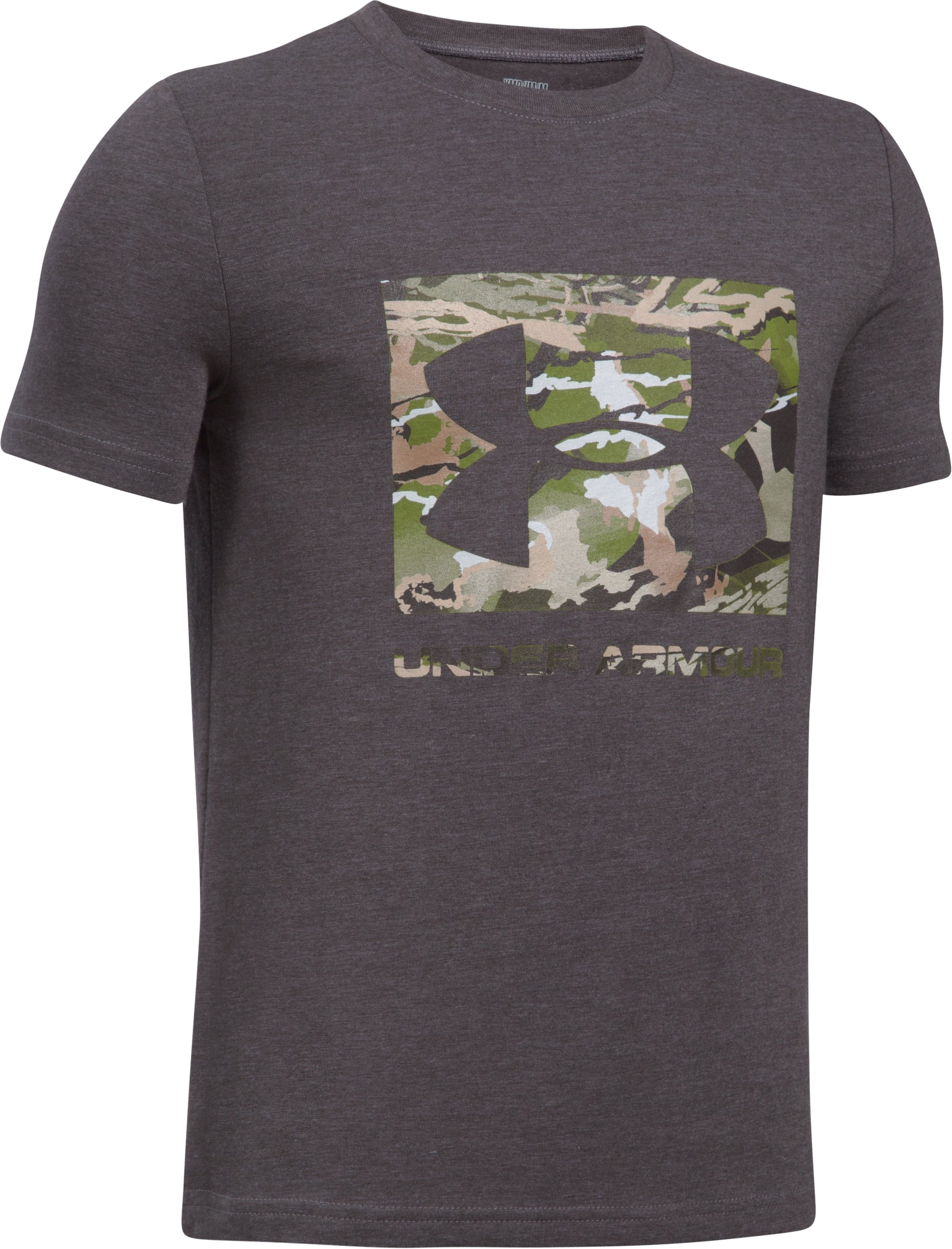 UA Camo Fill T-Shirt, CHARCOAL LIGHT HEATHER