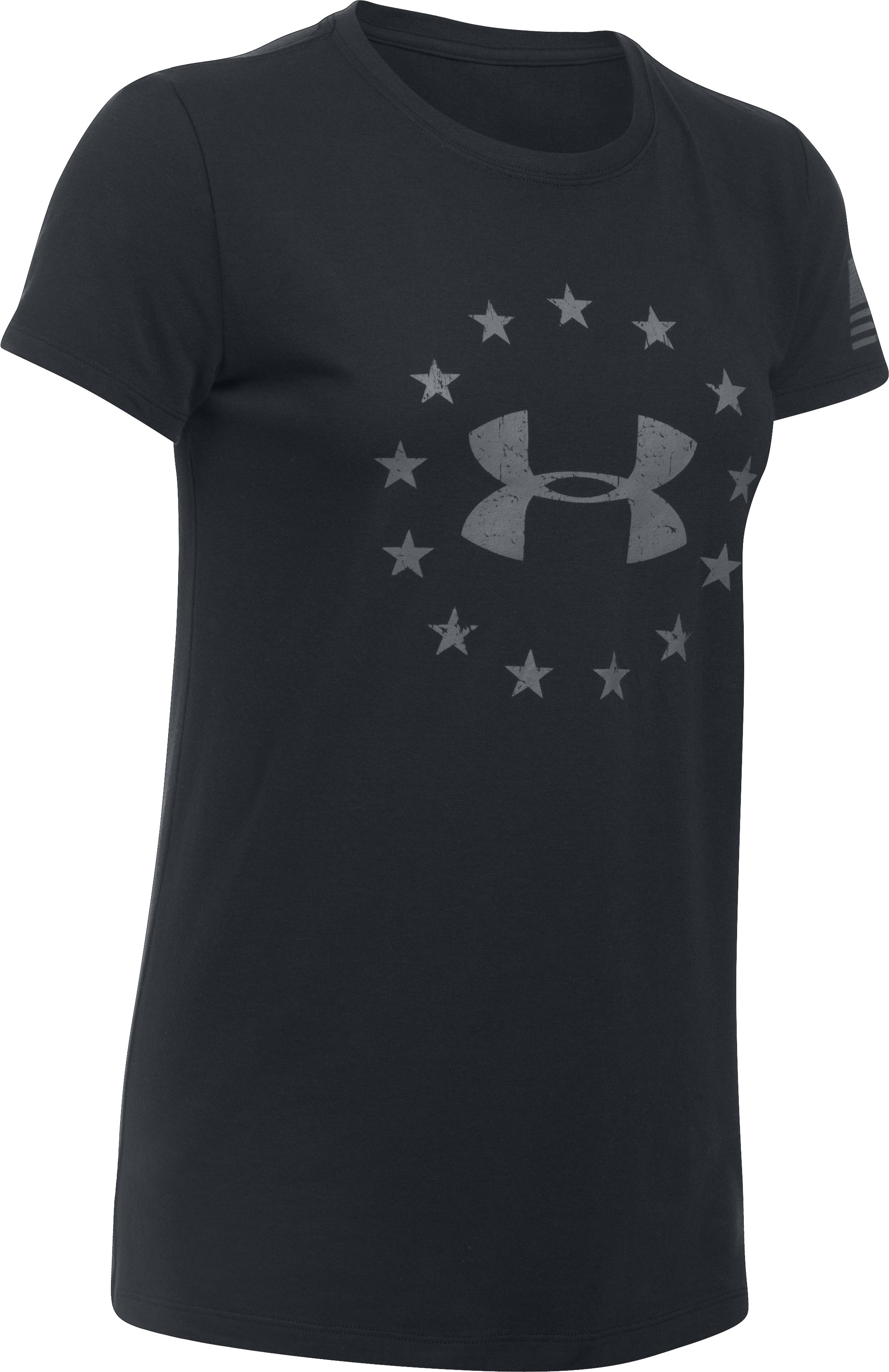 Women's UA Freedom Logo T-Shirt, Black ,