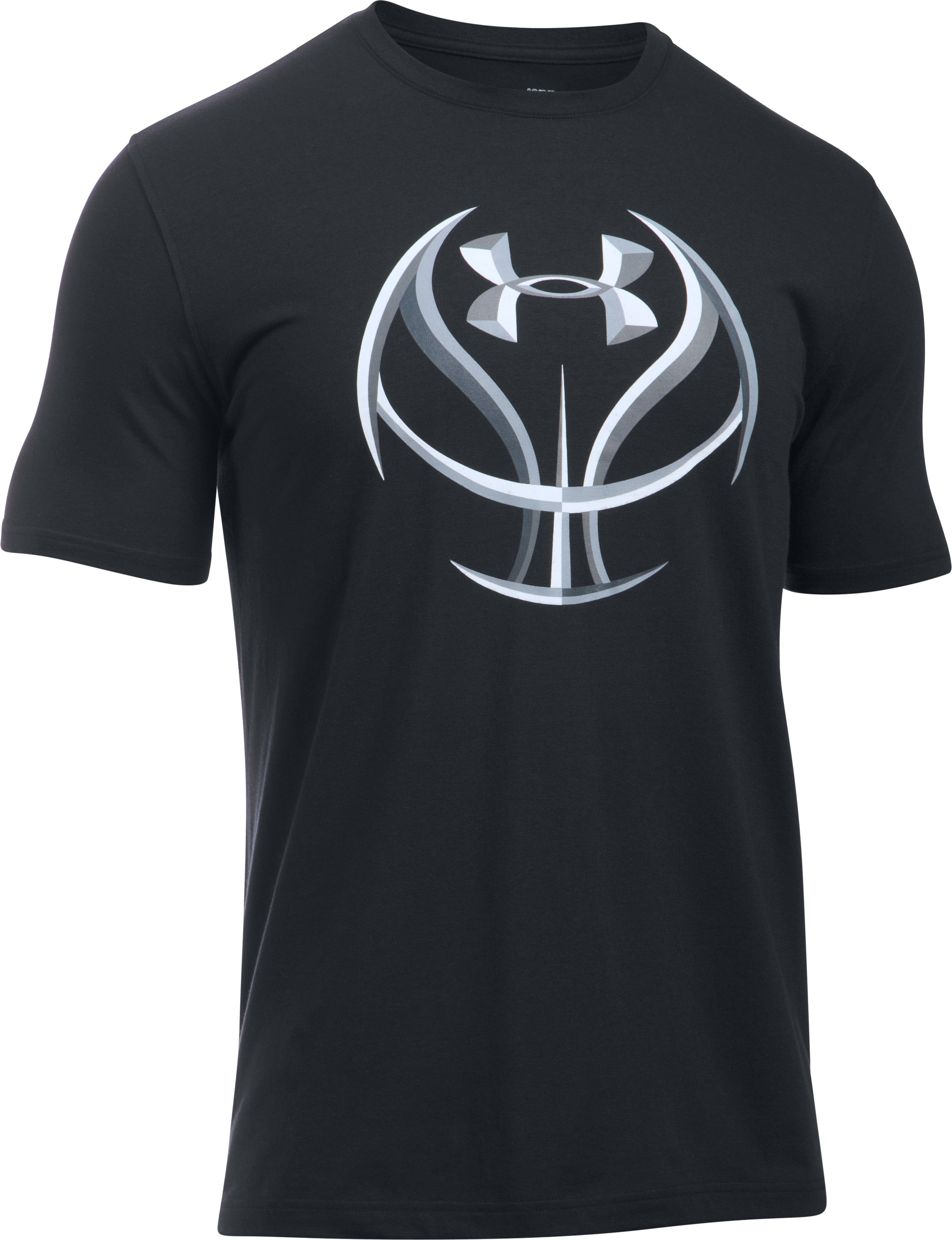 Men's UA Basketball T-Shirt, Black , undefined