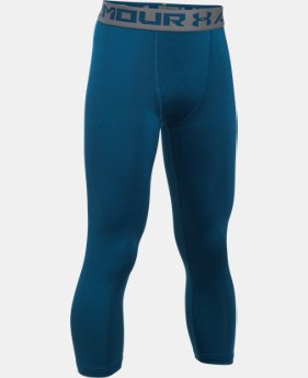 Boys' HeatGear® Armour ¾ Blocked Leggings  1 Color $12.74