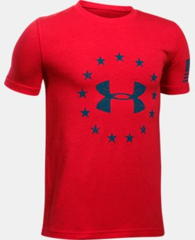 Boys' UA Freedom Logo T-Shirt  1  Color Available $16.99