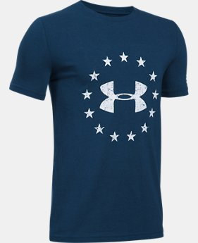 Boys' UA Freedom Logo T-Shirt  1  Color Available $14.99