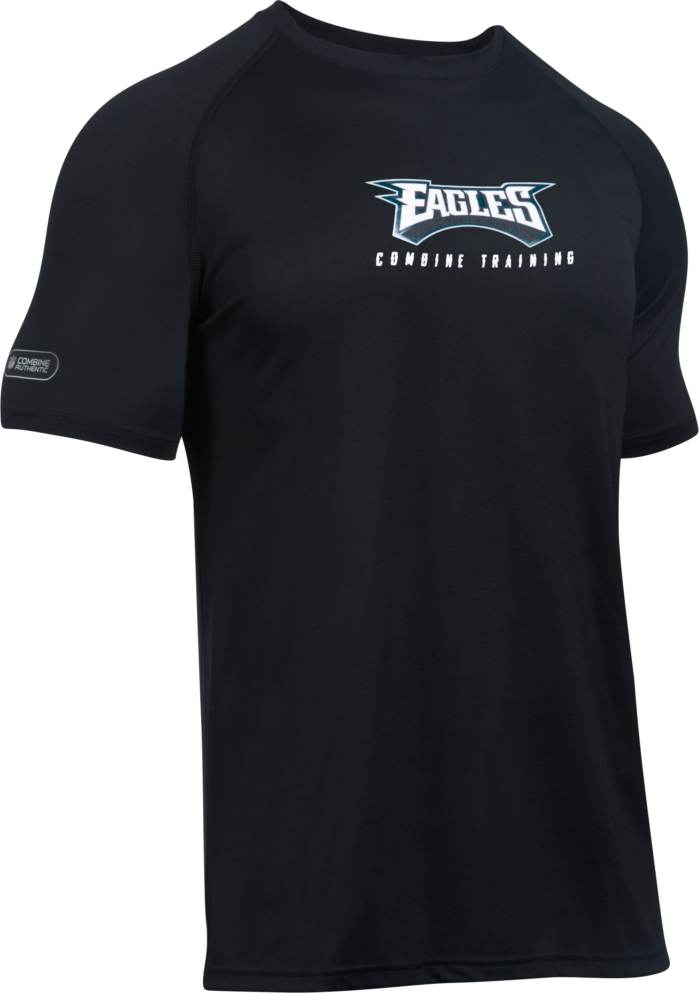Men's NFL Combine Authentic UA Wordmark T-Shirt, Philadelphia Eagles