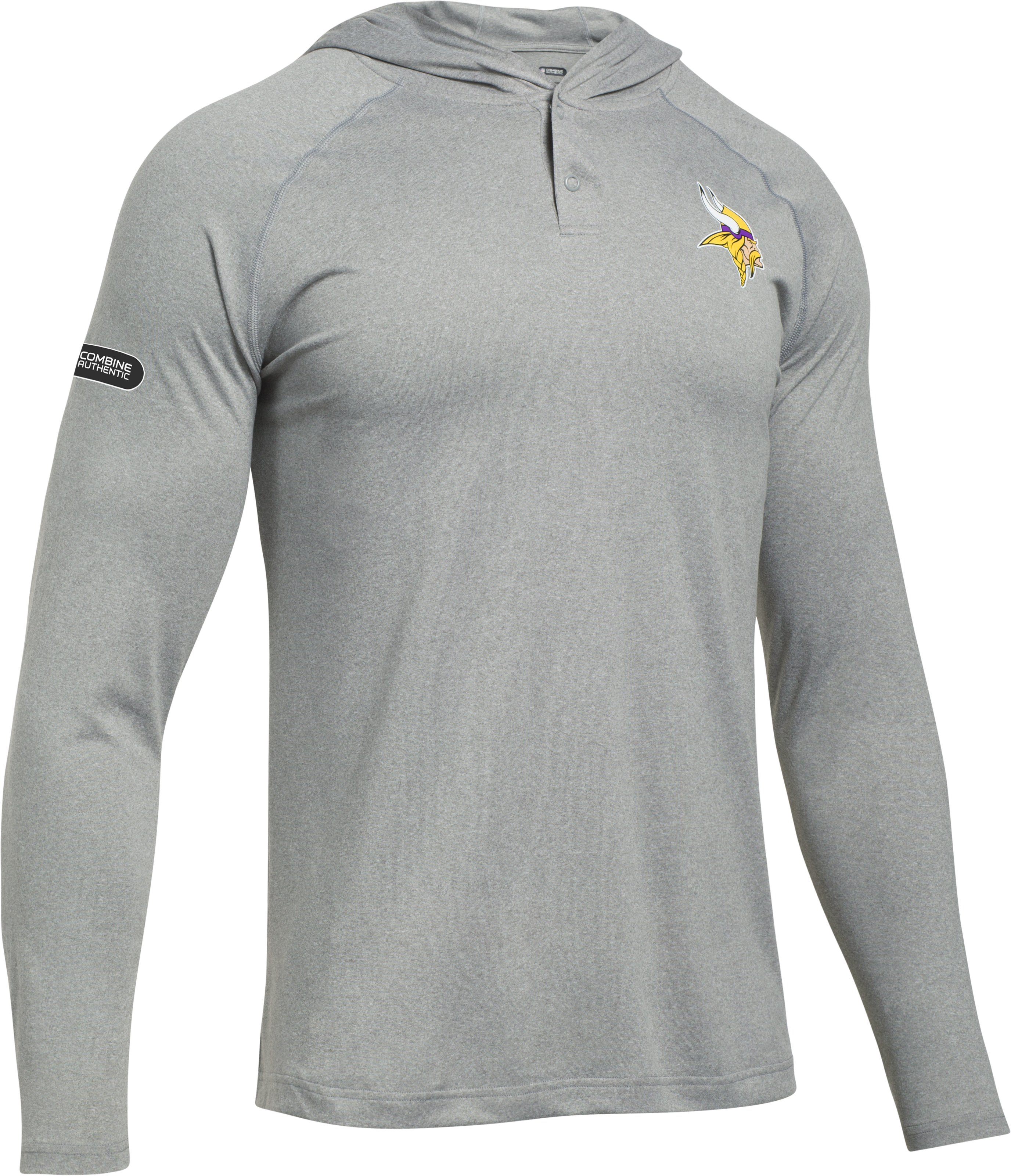 Men's NFL Combine Authentic UA Tech™ Popover Hoodie, Minnesota Vikings,