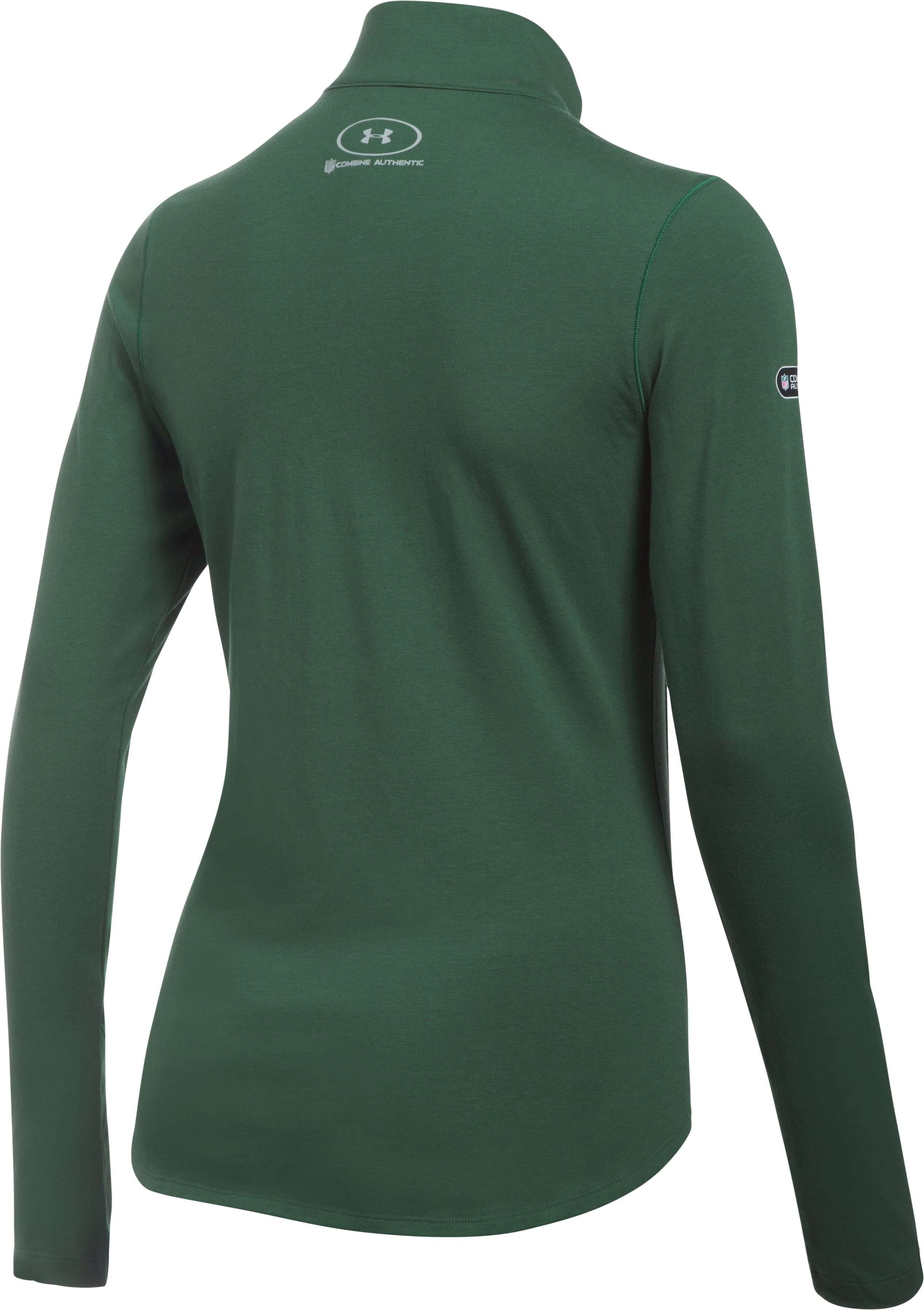 Women's NFL Combine Authentic UA Charged Cotton® 1/2 Zip, New York Jets, undefined