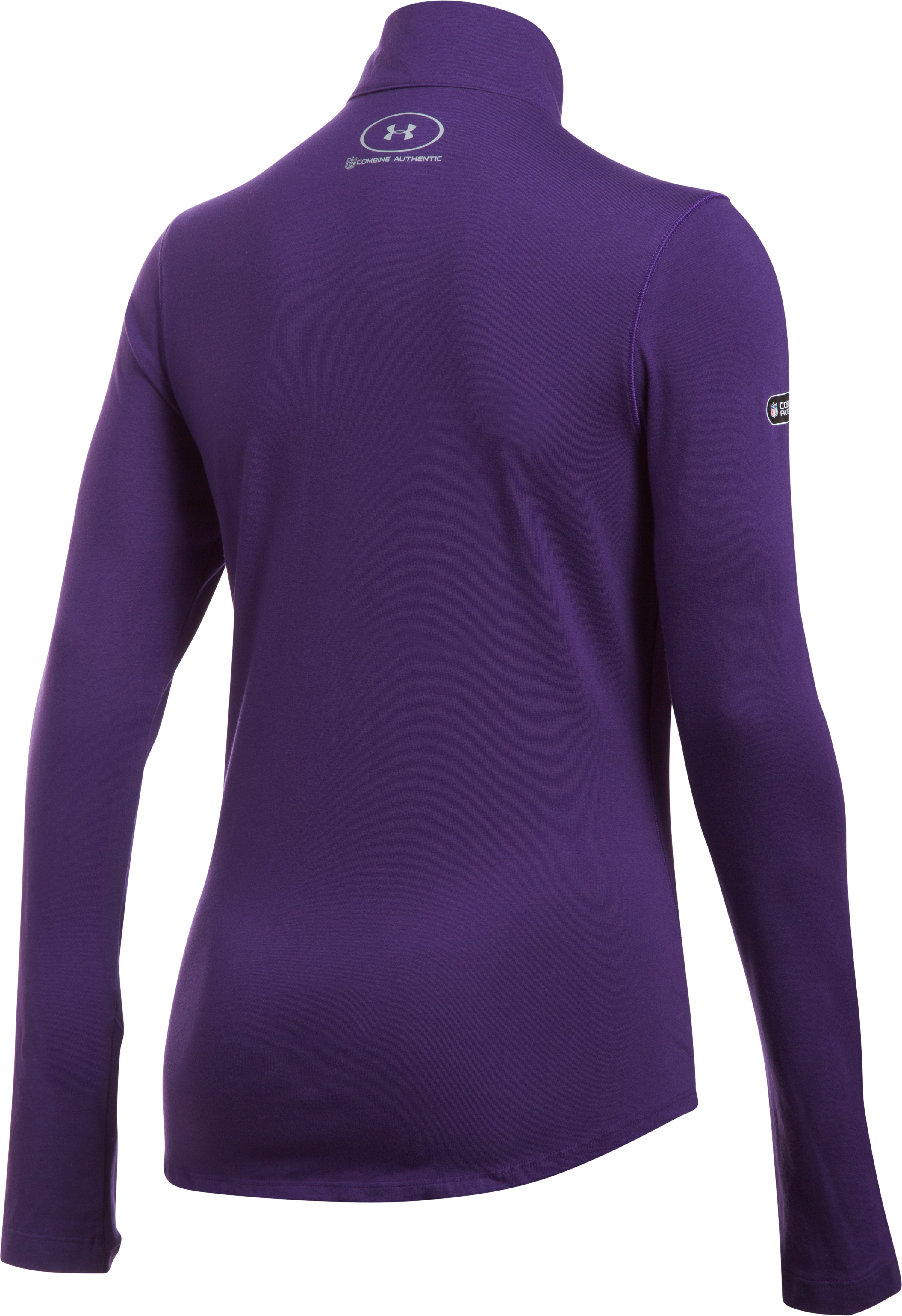 Women's NFL Combine Authentic UA Charged Cotton® 1/2 Zip, Baltimore Ravens,