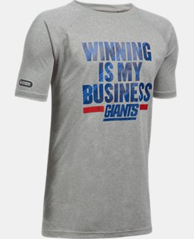 Boys' NFL Combine Authentic UA Winning Is My Business T-Shirt  1  Color Available $20.99 to $21.99