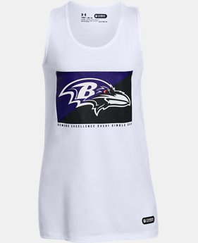Girls' NFL Combine Authentic UA Split Logo Tank LIMITED TIME: 25% OFF  $20.99