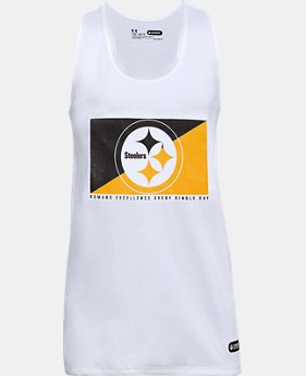 Girls' NFL Combine Authentic UA Split Logo Tank  5 Colors $28