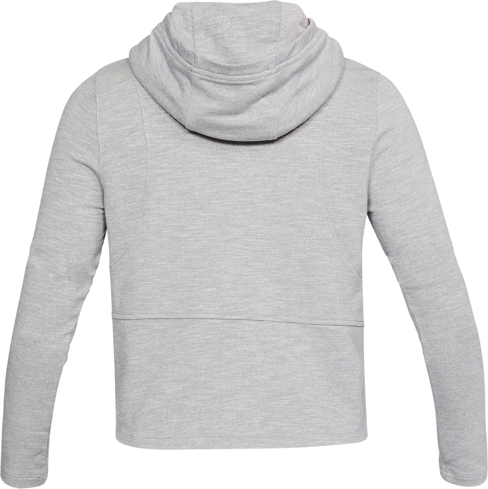 Women's UA Plush Terry Hoodie , True Gray Heather, undefined