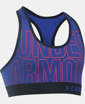 Girls' HeatGear® Armour Graphic Bra  1 Color $29.99