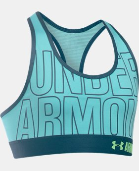 Girls' HeatGear® Armour Graphic Bra  2 Colors $29.99