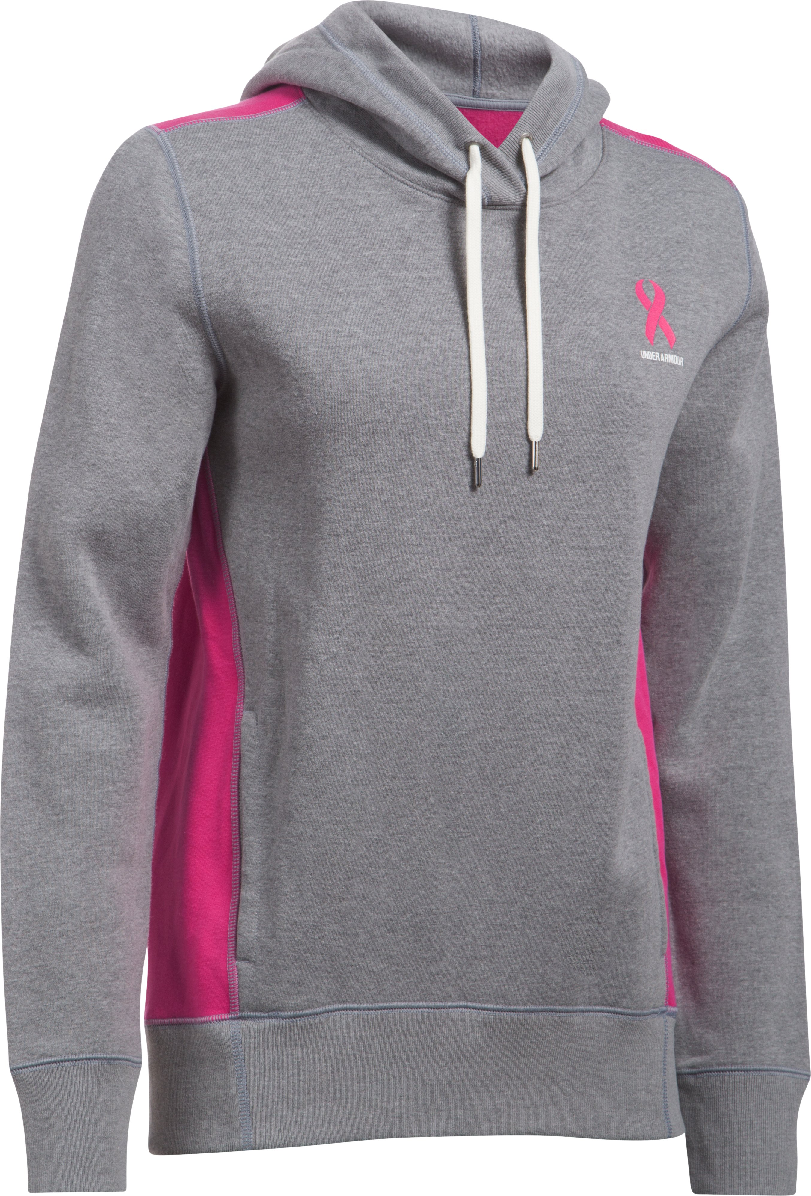 Women's UA Power In Pink® Hoodie, True Gray Heather,