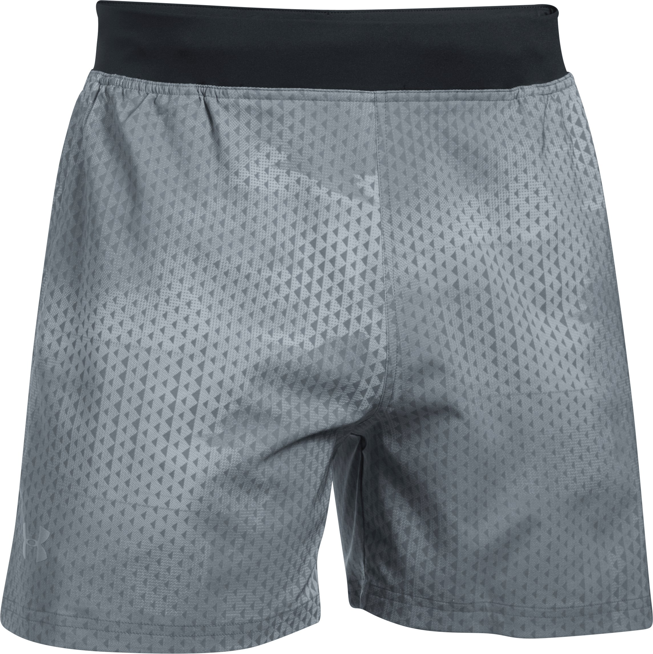 "Men's UA Speedpocket Printed 5"" Shorts, Steel, undefined"