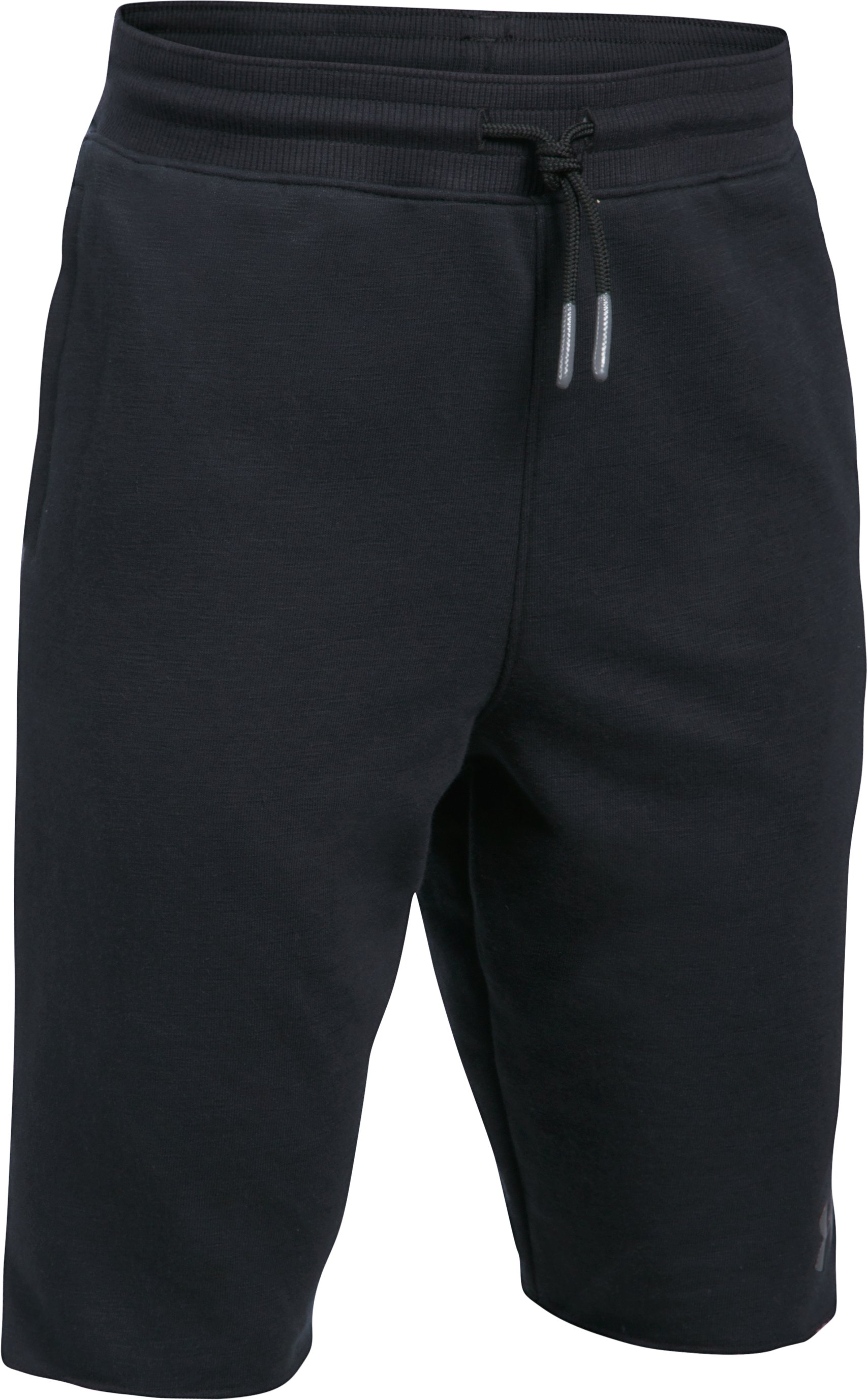 Boys' UA Select Terry Shorts, Black , undefined