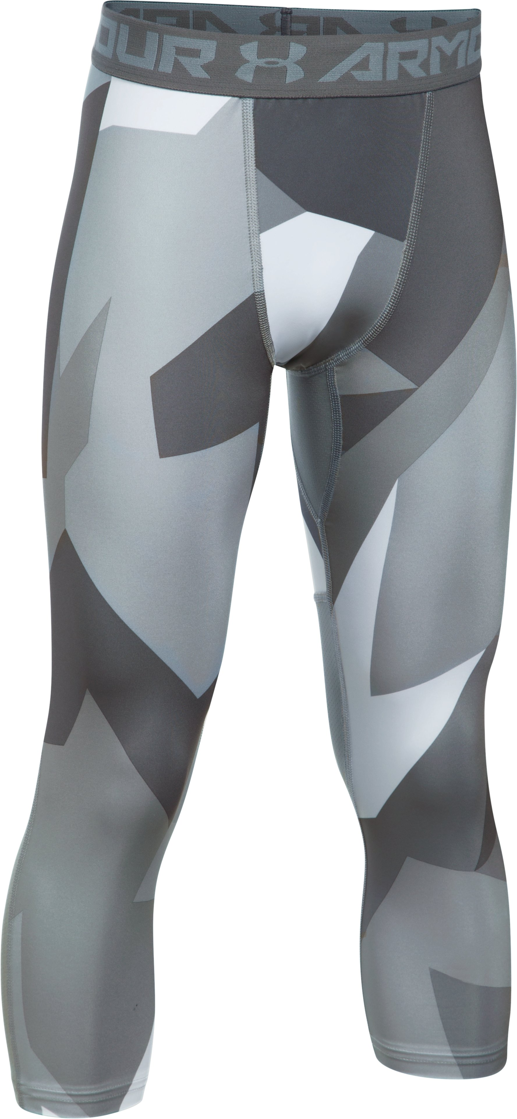 Boys' HeatGear® Armour Printed ¾ Legging, Steel, undefined