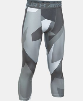 New Arrival Boys' HeatGear® Armour Printed ¾ Legging  5 Colors $34.99