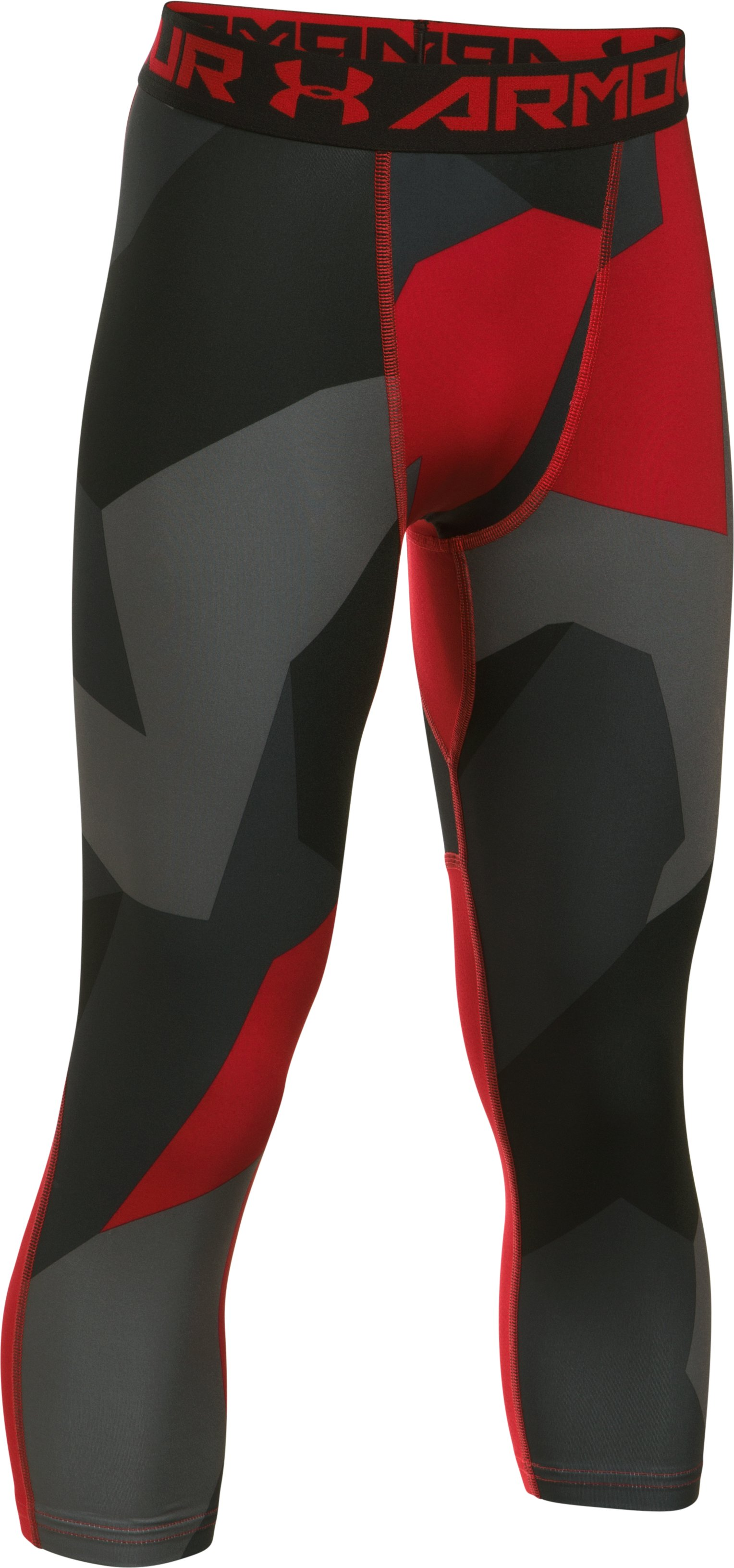 Boys' HeatGear® Armour Printed ¾ Legging, Red