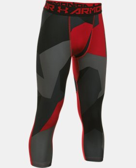 Boys' HeatGear® Armour Printed ¾ Legging  5 Colors $34.99