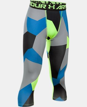 New to Outlet Boys' HeatGear® Armour Printed ¾ Legging  1 Color $34.99