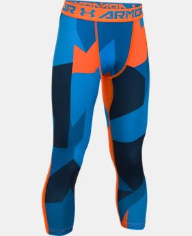 New to Outlet Boys' HeatGear® Armour Printed ¾ Legging  1 Color $24.49