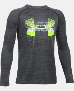 New Arrival Boys' UA Tech™ Big Logo Hybrid Long Sleeve T-Shirt  2 Colors $29.99