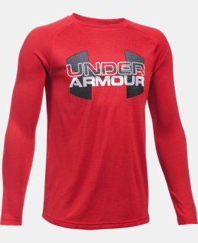 New Arrival Boys' UA Tech™ Big Logo Hybrid Long Sleeve T-Shirt   $29.99