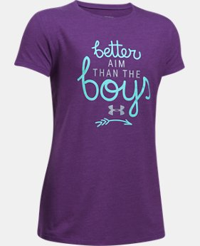 Girls' UA Better Aim T-Shirt  1 Color $19.99