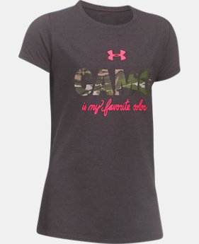 Girls' UA Camo Favorite T-Shirt  1 Color $19.99
