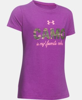 Girls' UA Camo Favorite T-Shirt  1 Color $14.99