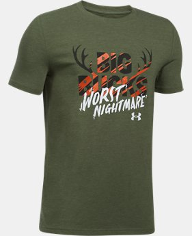 New Arrival Boys' UA Bucks Worst Nightmare T-Shirt  2 Colors $29.15