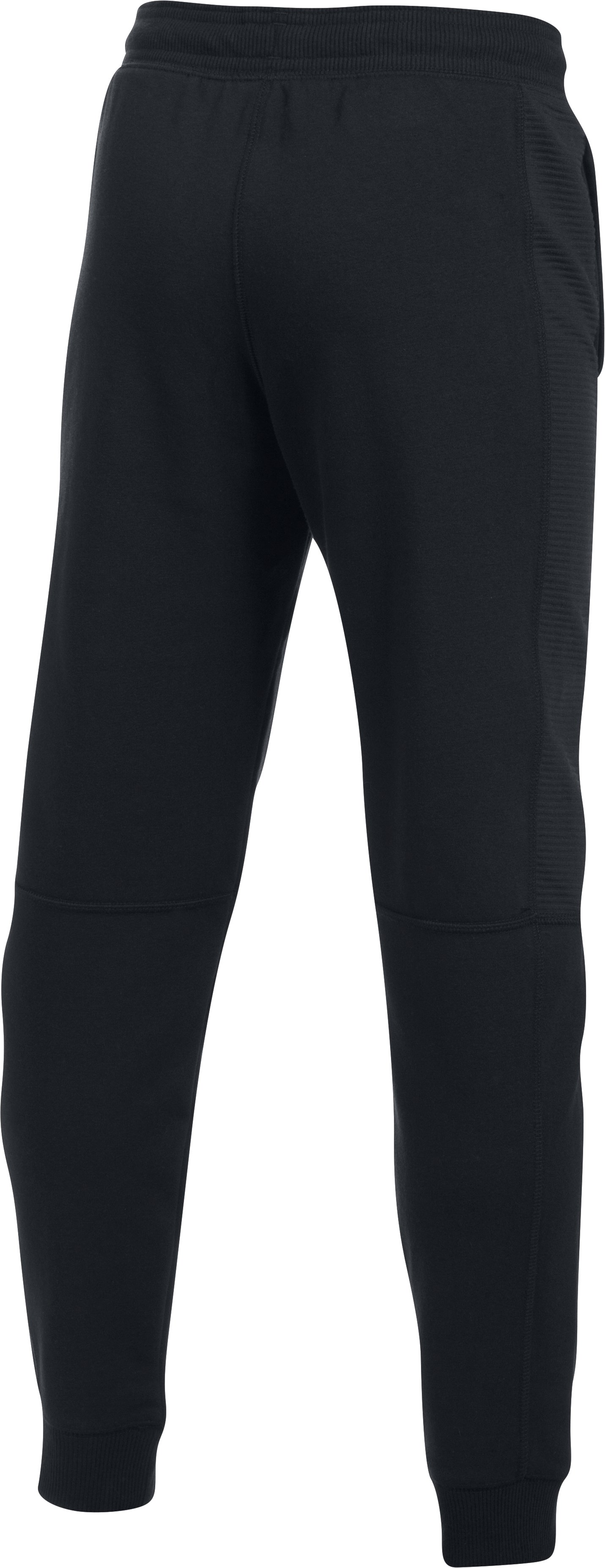 Boys' UA Stretch Fleece Ridge Jogger, Black
