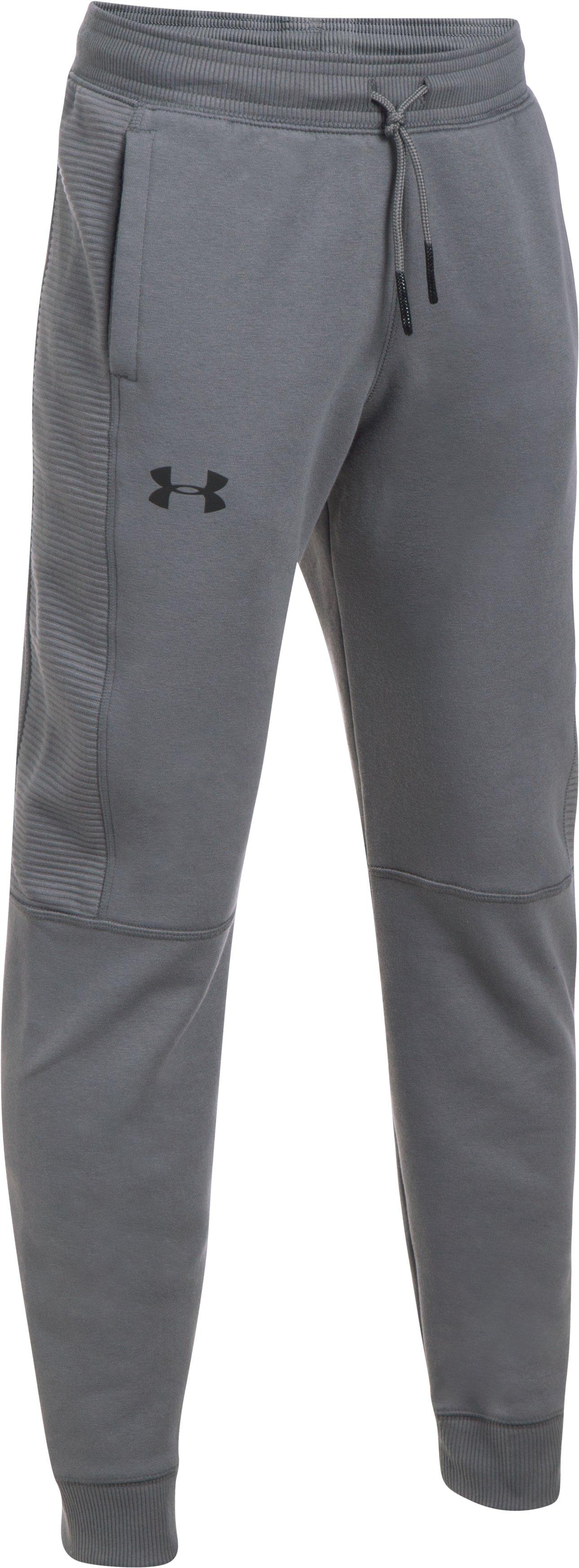 Boys' UA Stretch Fleece Ridge Jogger, Graphite