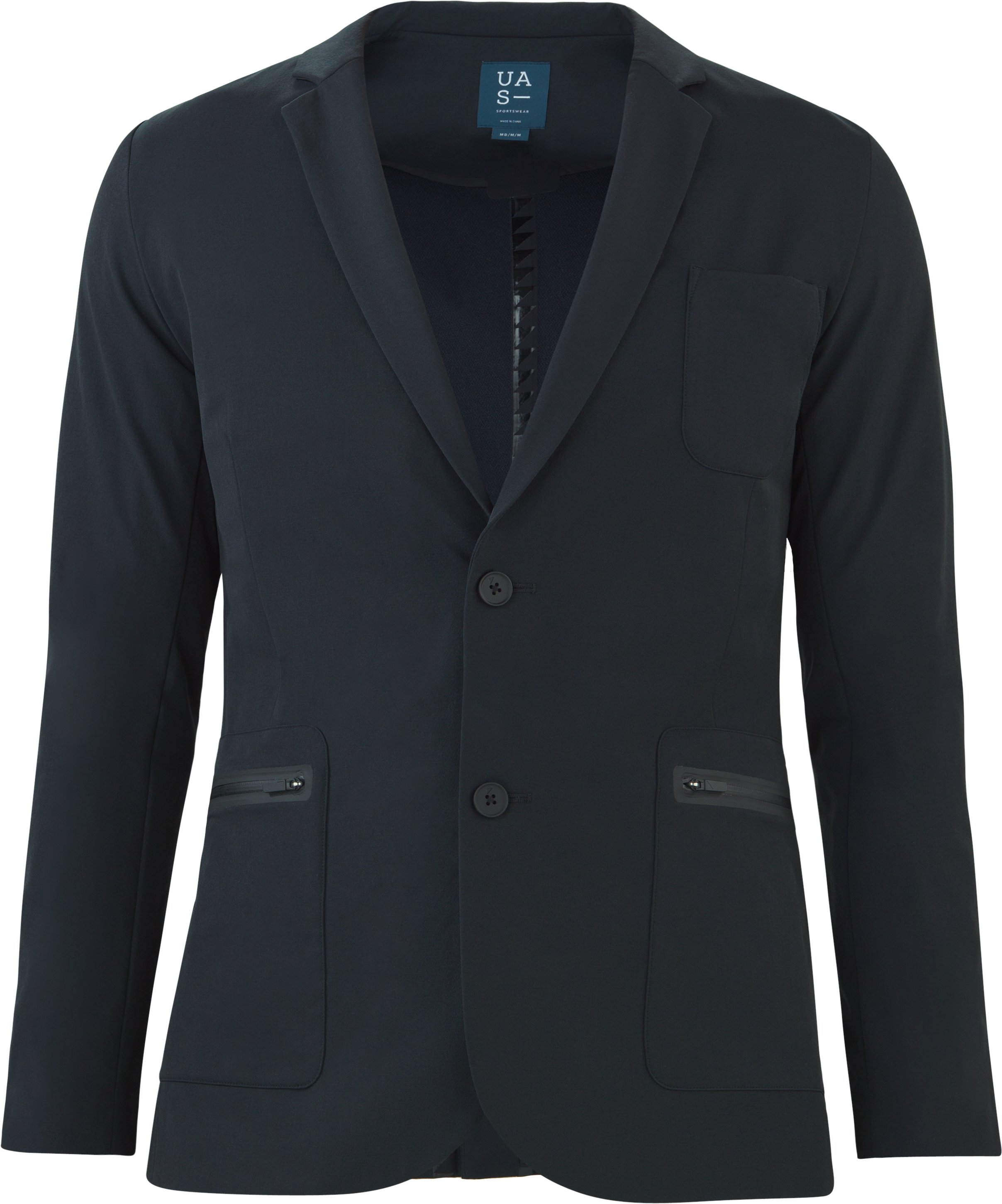 Men's UAS Draftday Crepe Blazer, Black ,