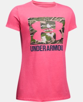 Girls' UA Camo Fill T-Shirt   $19.99