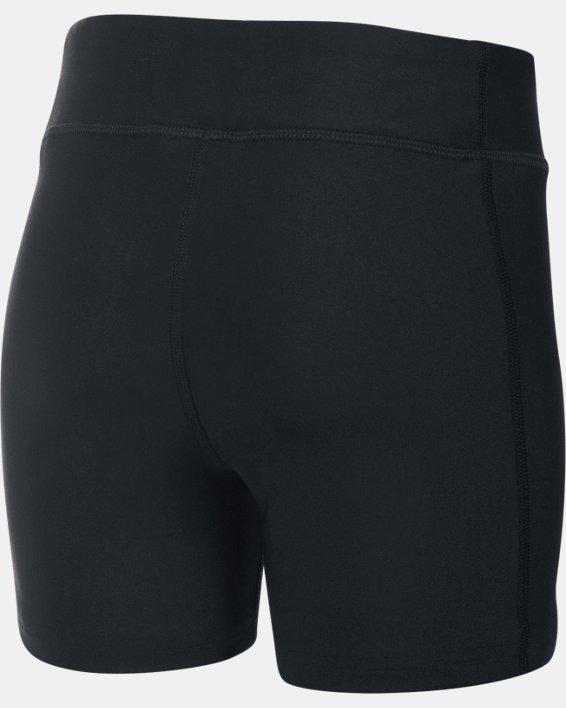 """Girls' UA On The Court 4"""" Shorts, Black, pdpMainDesktop image number 1"""