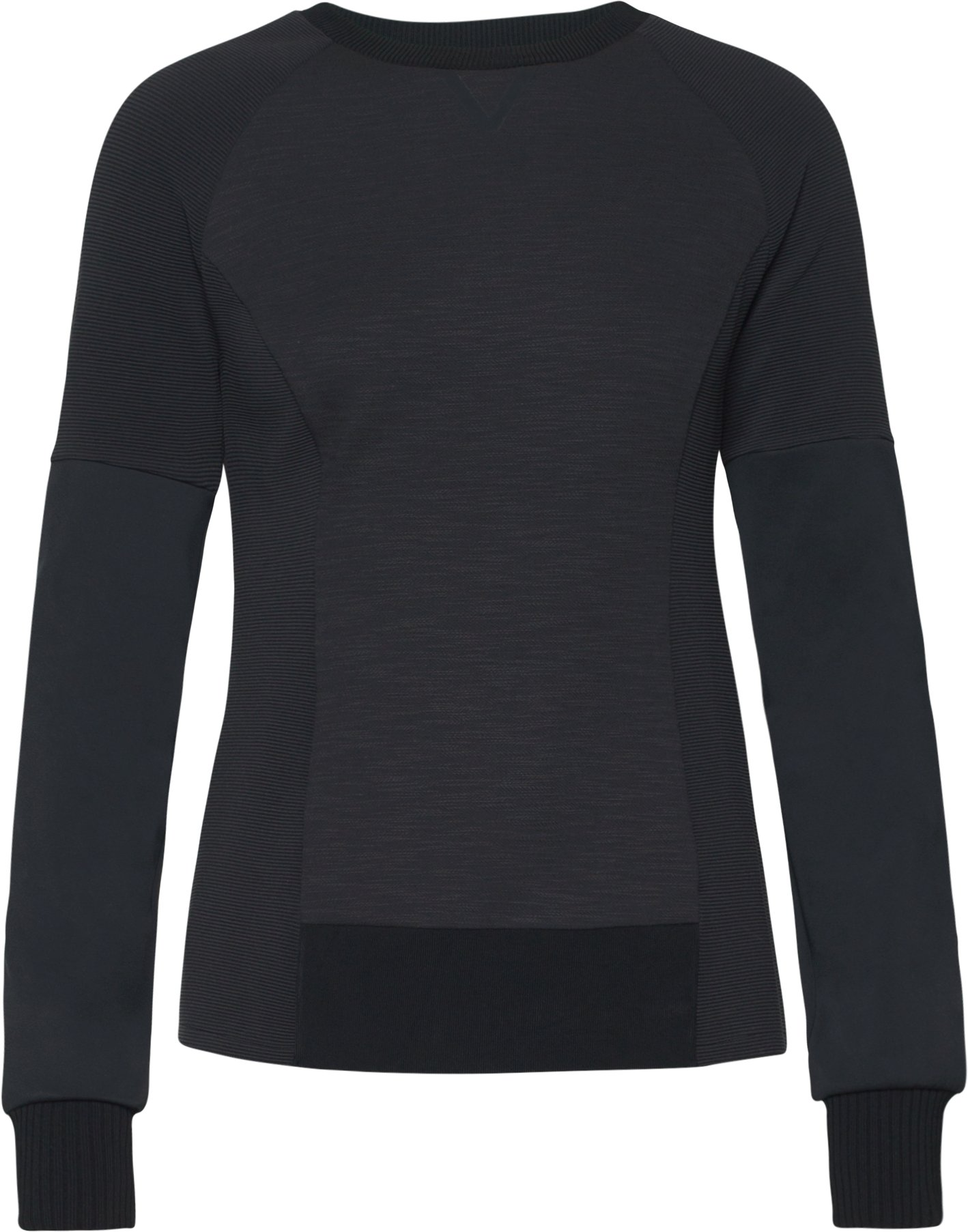 Women's UAS Fitted Crew Sweatshirt, Black , undefined