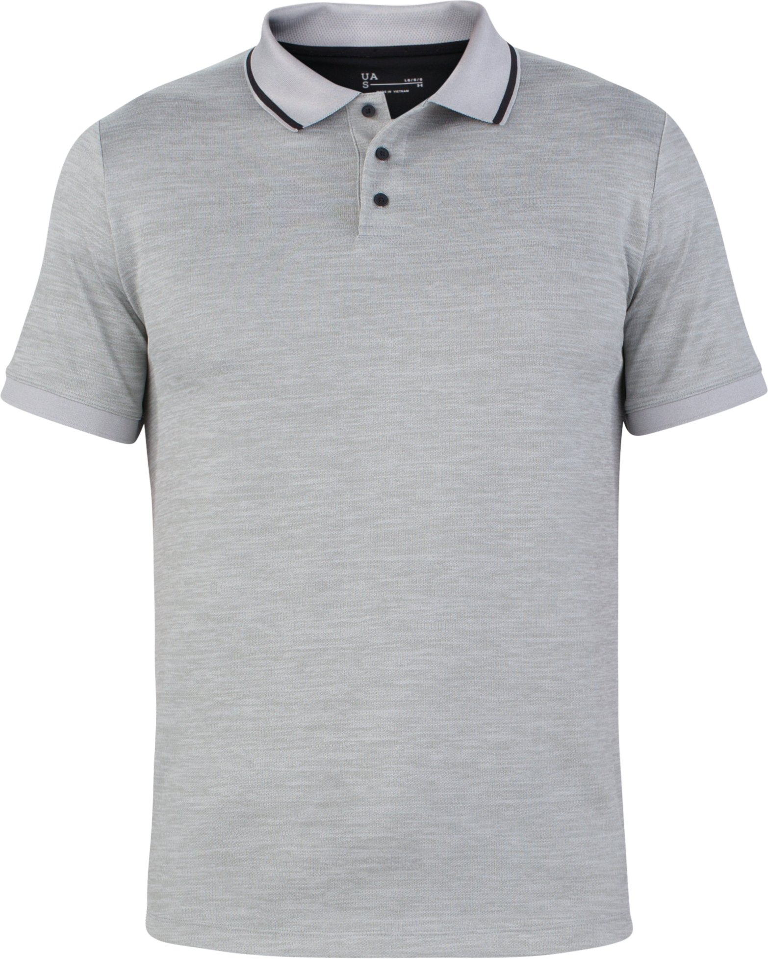 Men's UAS Pique Short Sleeve Polo, LIGHT HEATHER GRAY, undefined