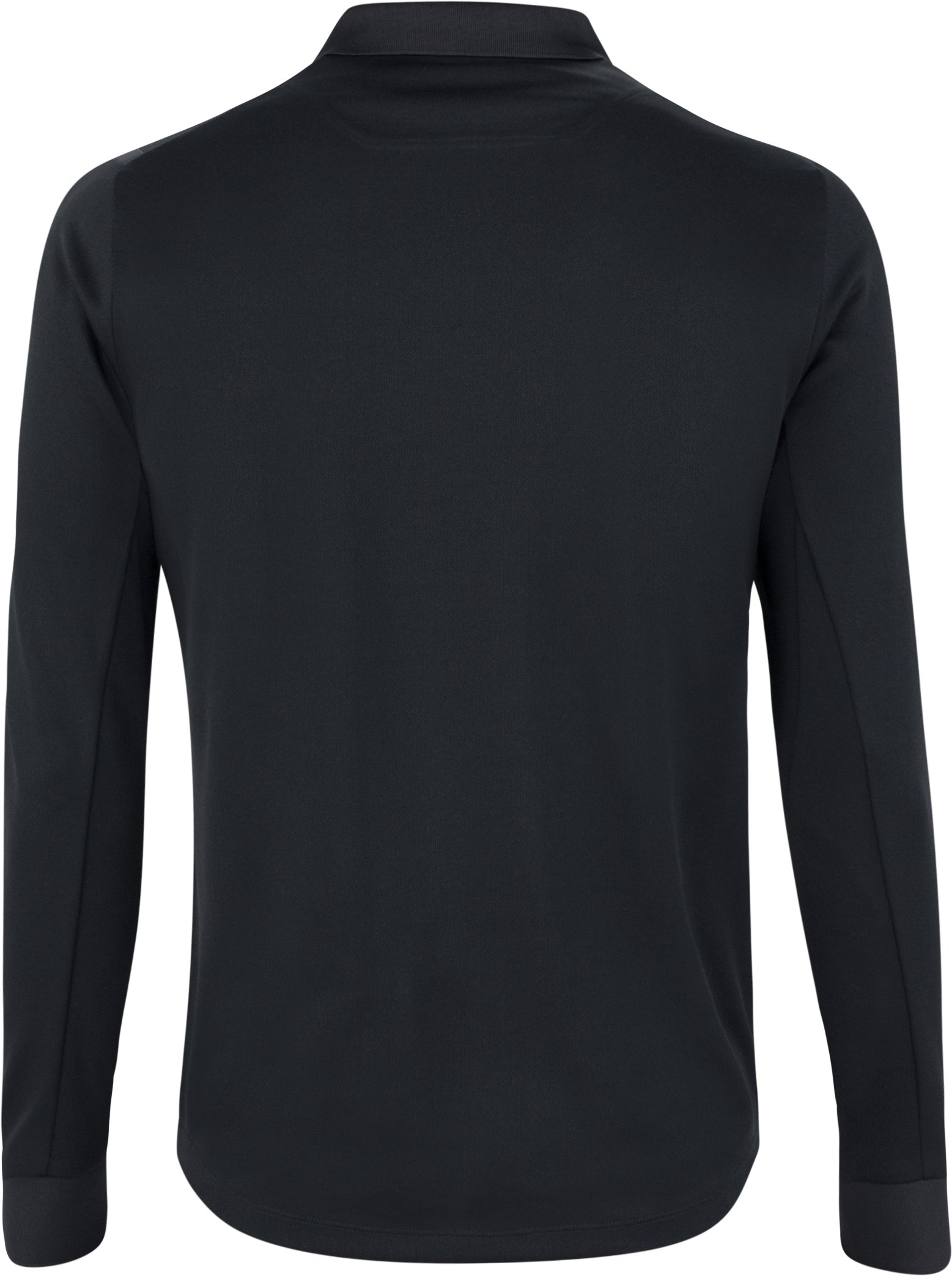 Men's UAS Pique Long Sleeve Polo, Black