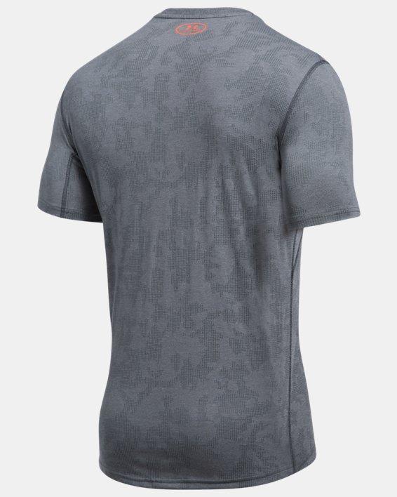 Men's UA Threadborne™ Elite Fitted Shorts Sleeve, Gray, pdpMainDesktop image number 4