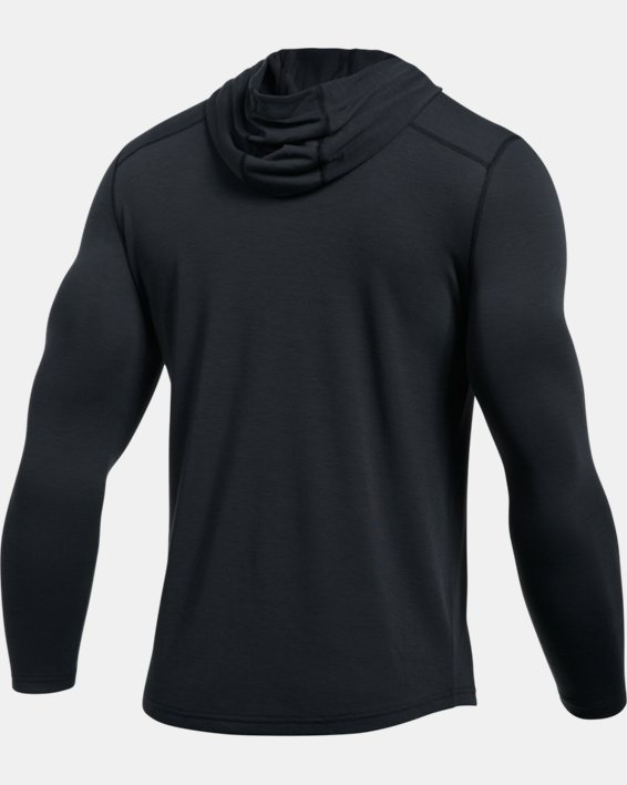 Men's UA Threadborne™ Knit Fitted Hoodie, Black, pdpMainDesktop image number 8