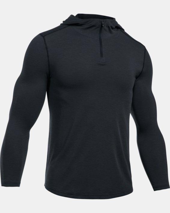 Men's UA Threadborne™ Knit Fitted Hoodie, Black, pdpMainDesktop image number 5