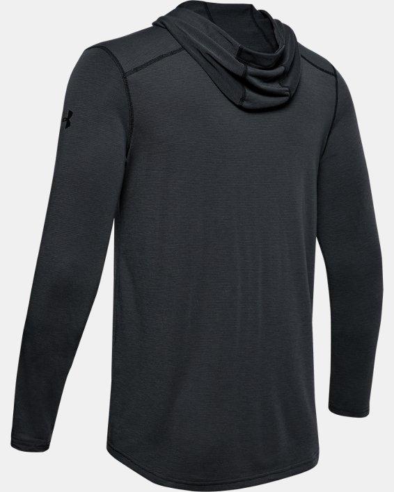 Men's UA Threadborne™ Knit Fitted Hoodie, Black, pdpMainDesktop image number 7