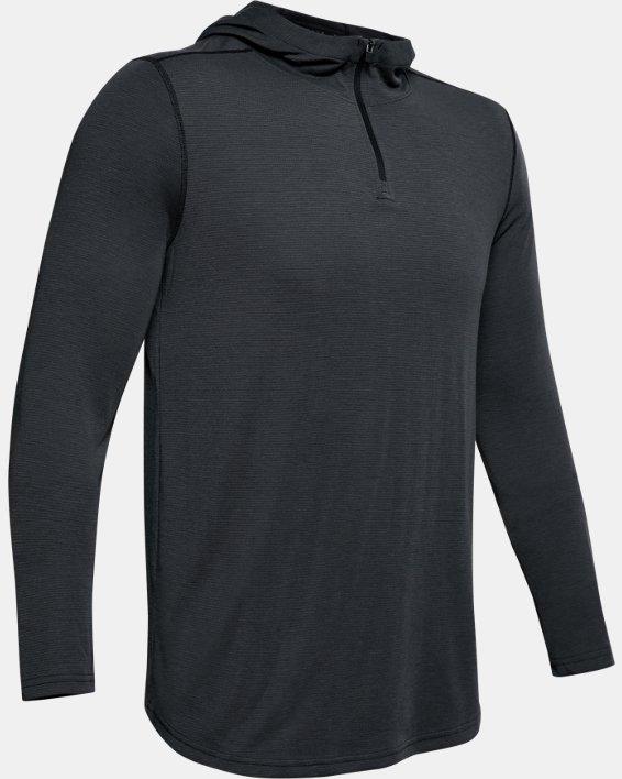 Men's UA Threadborne™ Knit Fitted Hoodie, Black, pdpMainDesktop image number 6