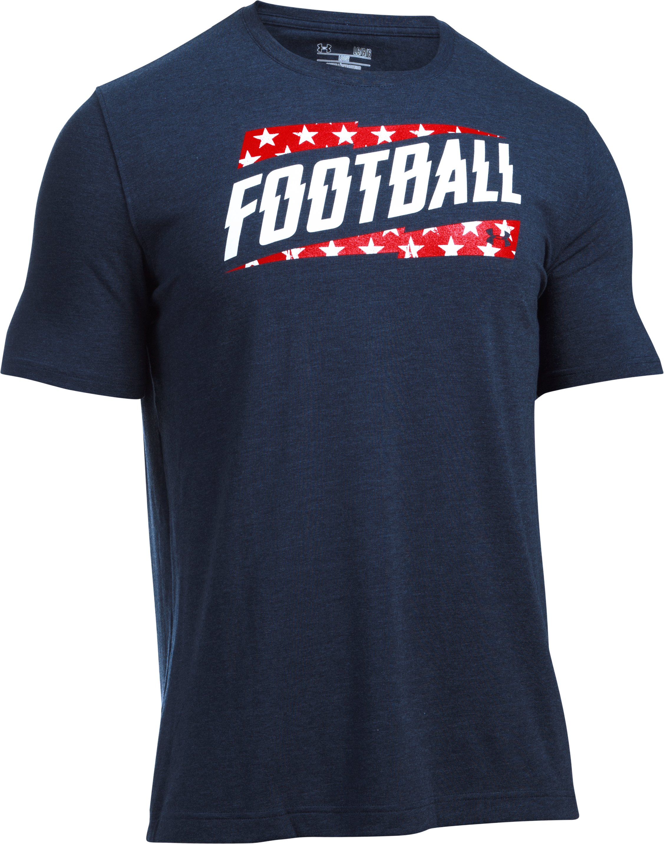 Men's UA Football Independence T-Shirt, Midnight Navy,