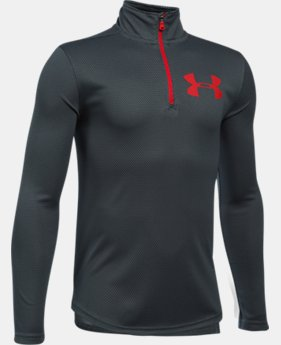 Boys' UA Tech™ Textured ¼ Zip  7 Colors $34.99