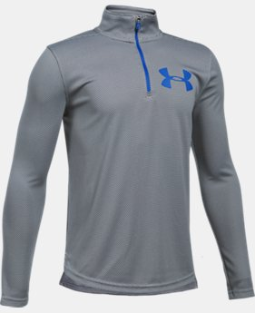 Boys' UA Tech™ Textured ¼ Zip  3 Colors $34.99