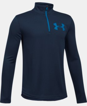 New to Outlet Boys' UA Tech™ Textured ¼ Zip LIMITED TIME OFFER 1 Color $24.49